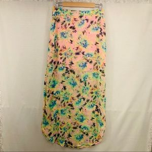 Lush floral High-slit Maxi Skirt Size L
